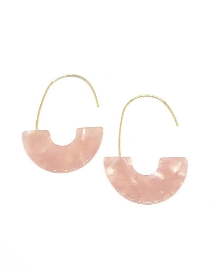 Vayu Jewels Zeta Earrings - Rose