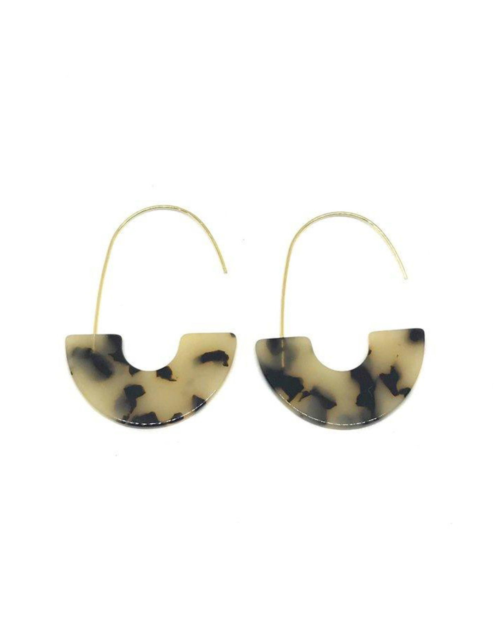 Vayu Jewels Zeta Earrings - Tortoise Shell