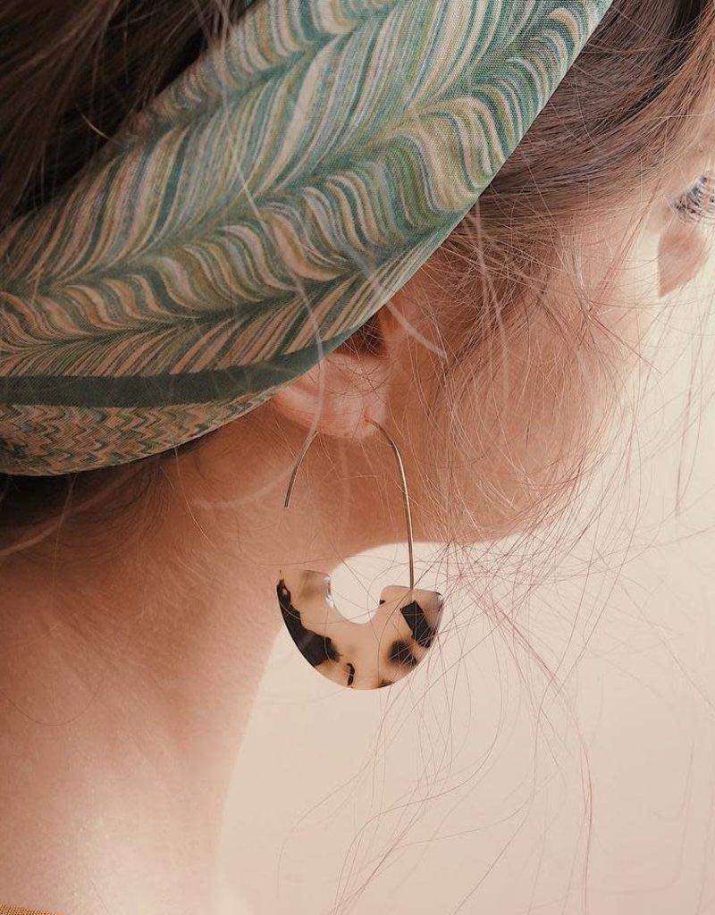 Vayu Jewels Zeta Earrings - Tortoise Shell