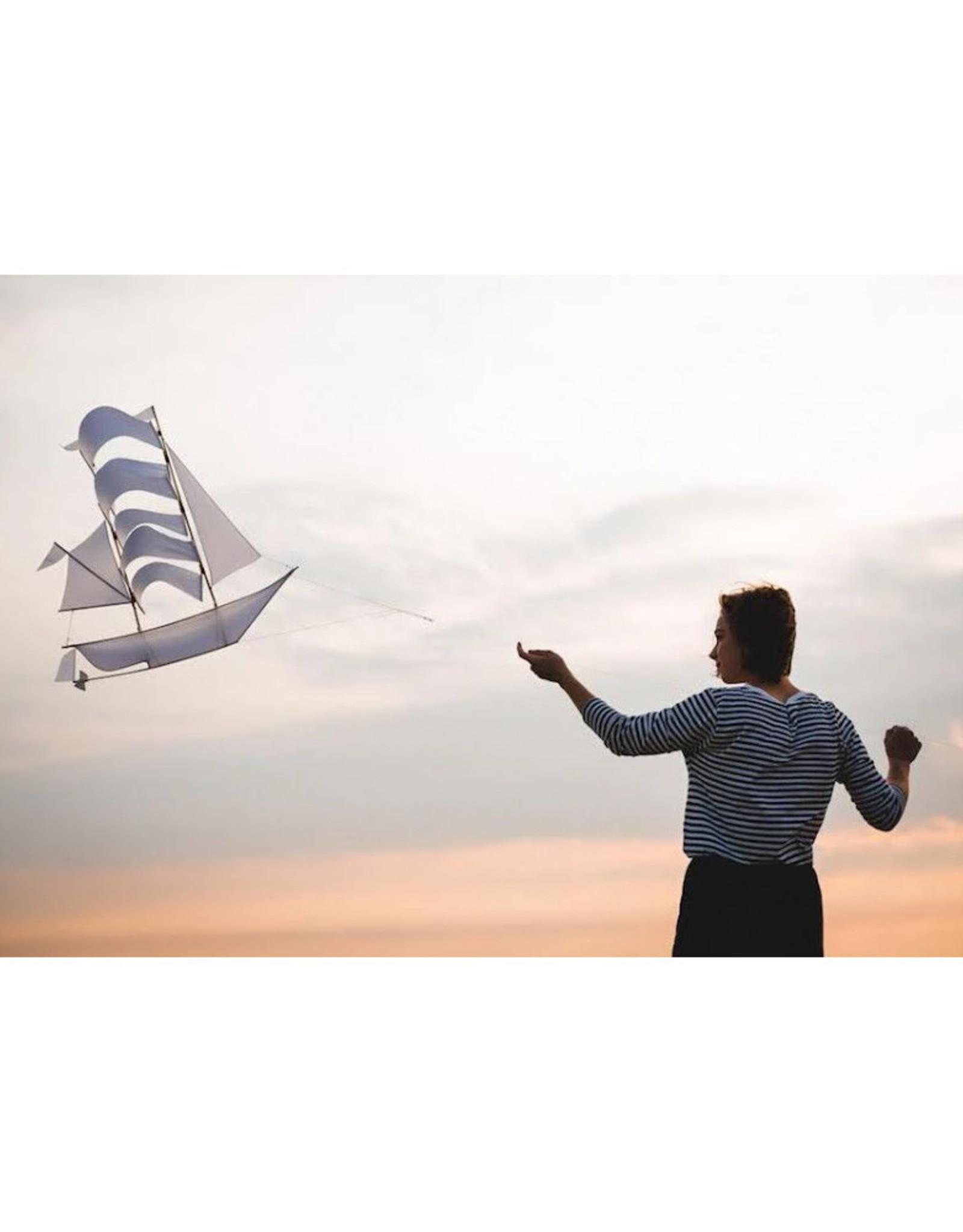 Haptic Lab Night Ship Kite - Black - Large