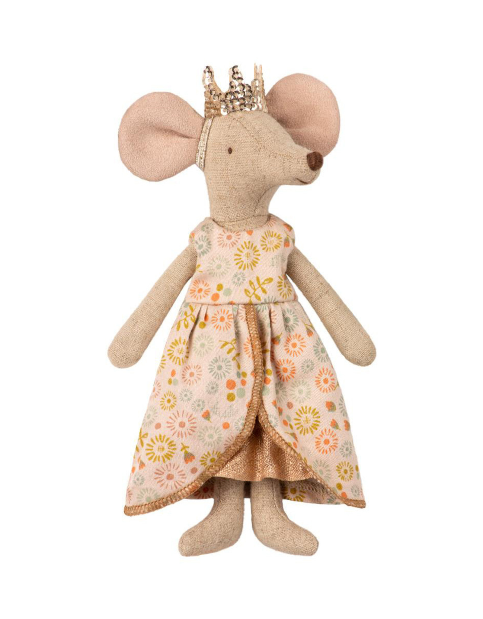 Maileg Queen Mouse - Peach Floral Dress