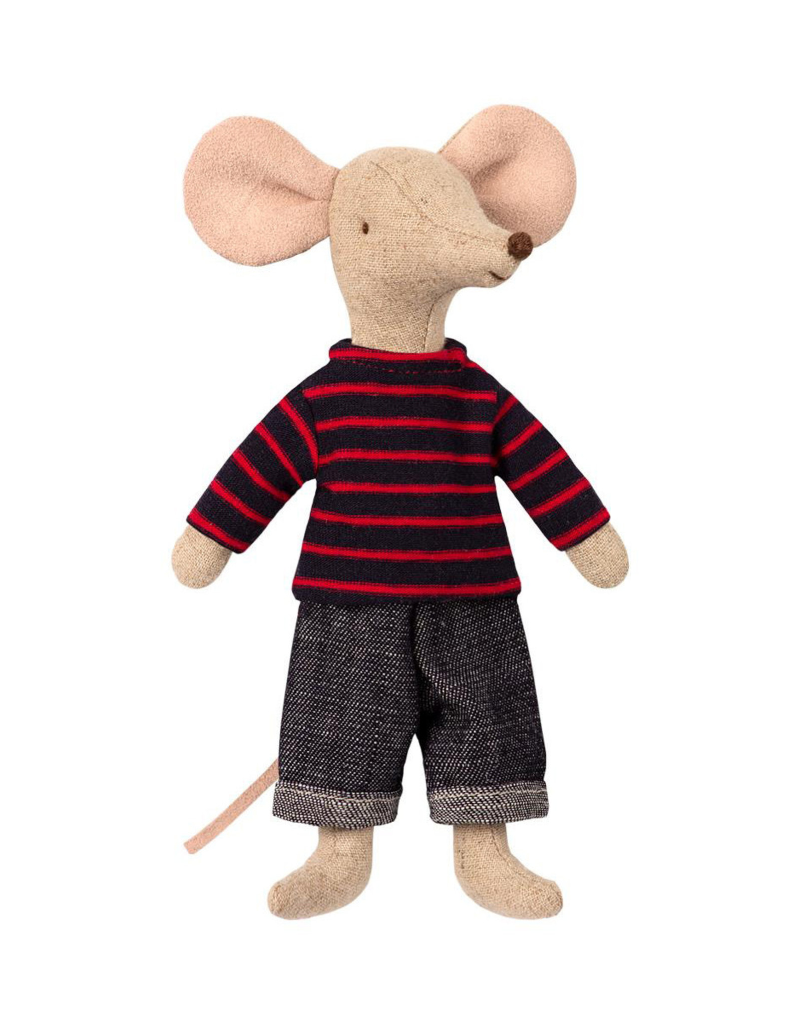 Maileg Dad Mouse - Red Striped Top and Jeans