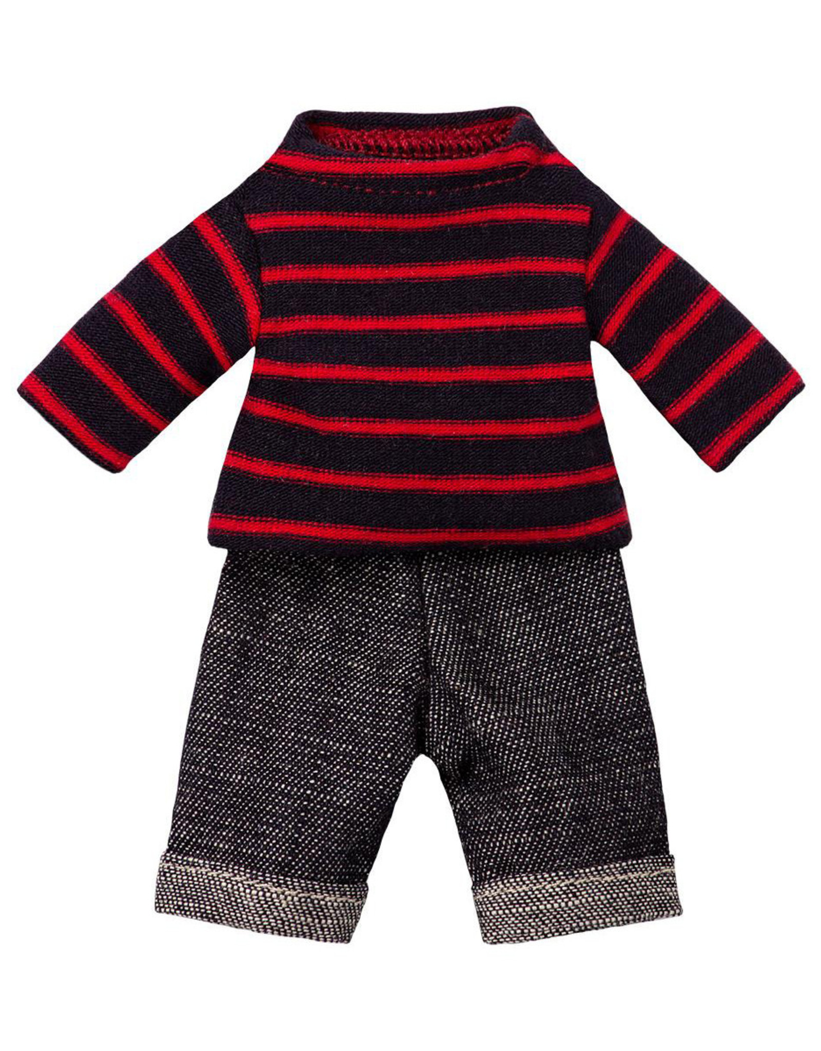 Maileg Dad Outfit - Red Striped Top and Jeans