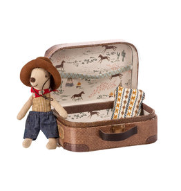 Maileg Cowboy Little Brother Mouse in Suitcase