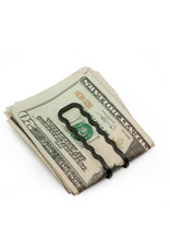 Craighill Carbon Black Money Clip - Wavy