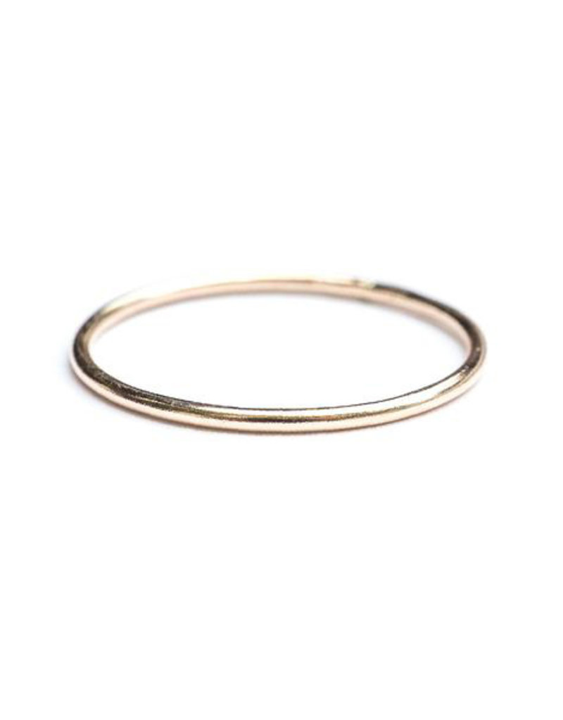 Hart + Stone Smooth Stacking Ring - Gold Fill