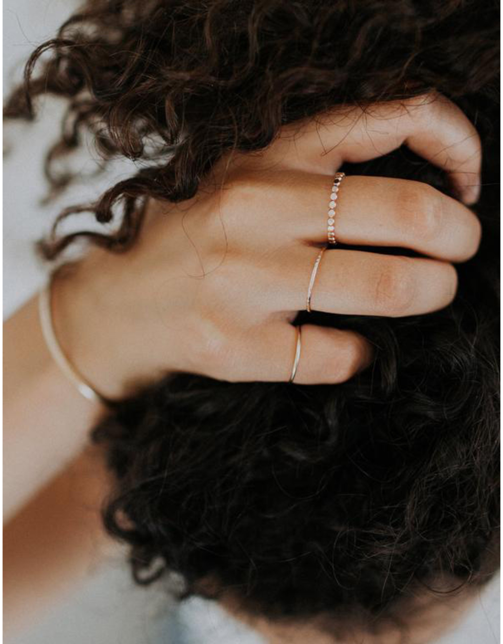 Hart + Stone Smooth Stacking Ring - Gold Fill -