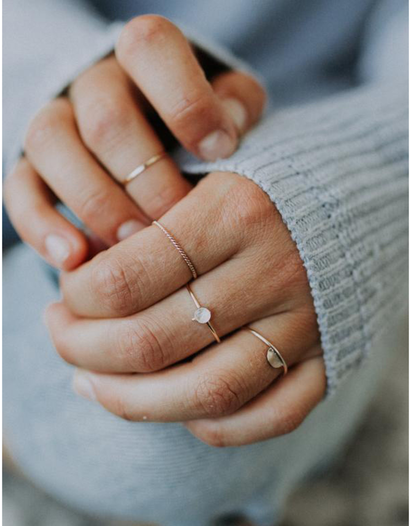 Hart + Stone Twisted Stacking Ring - Sterling Silver -