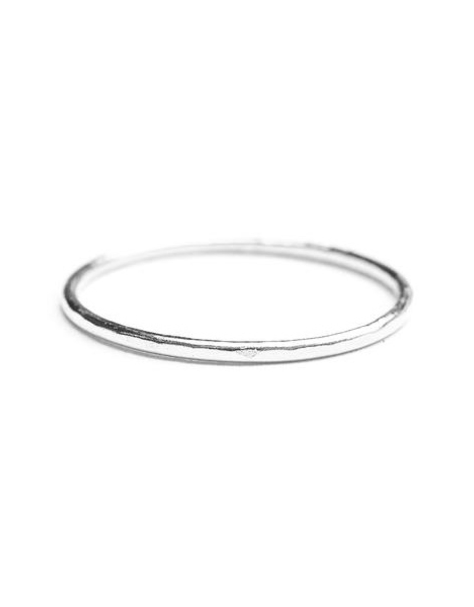 Hart + Stone Hammered Stacking Ring - Sterling Silver