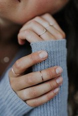 Hart + Stone Hammered Stacking Ring - Sterling Silver -
