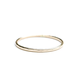 Hart + Stone Hammered Stacking Ring - Gold Fill -