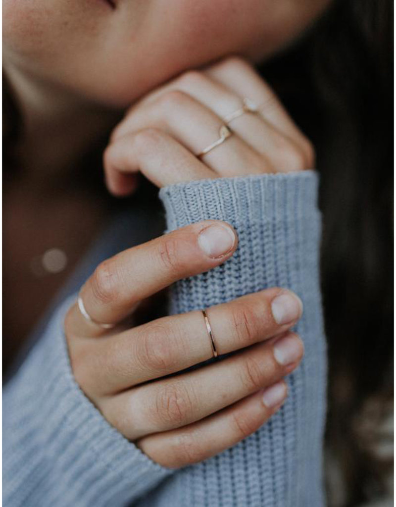 Hart + Stone Hammered Stacking Ring - Gold Fill