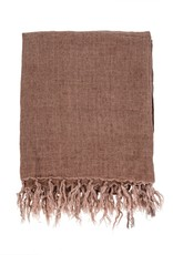 Indaba Lina Linen Throw - Chocolate