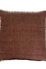Lina Linen Pillow - Chocolate