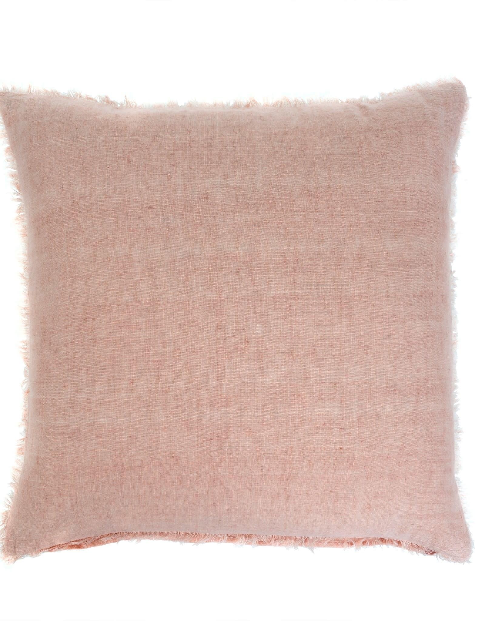 Indaba Lina Linen Pillow - Peach Pink