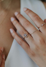 Hart + Stone Thin Sprinkle Stacking Ring - 14K Gold