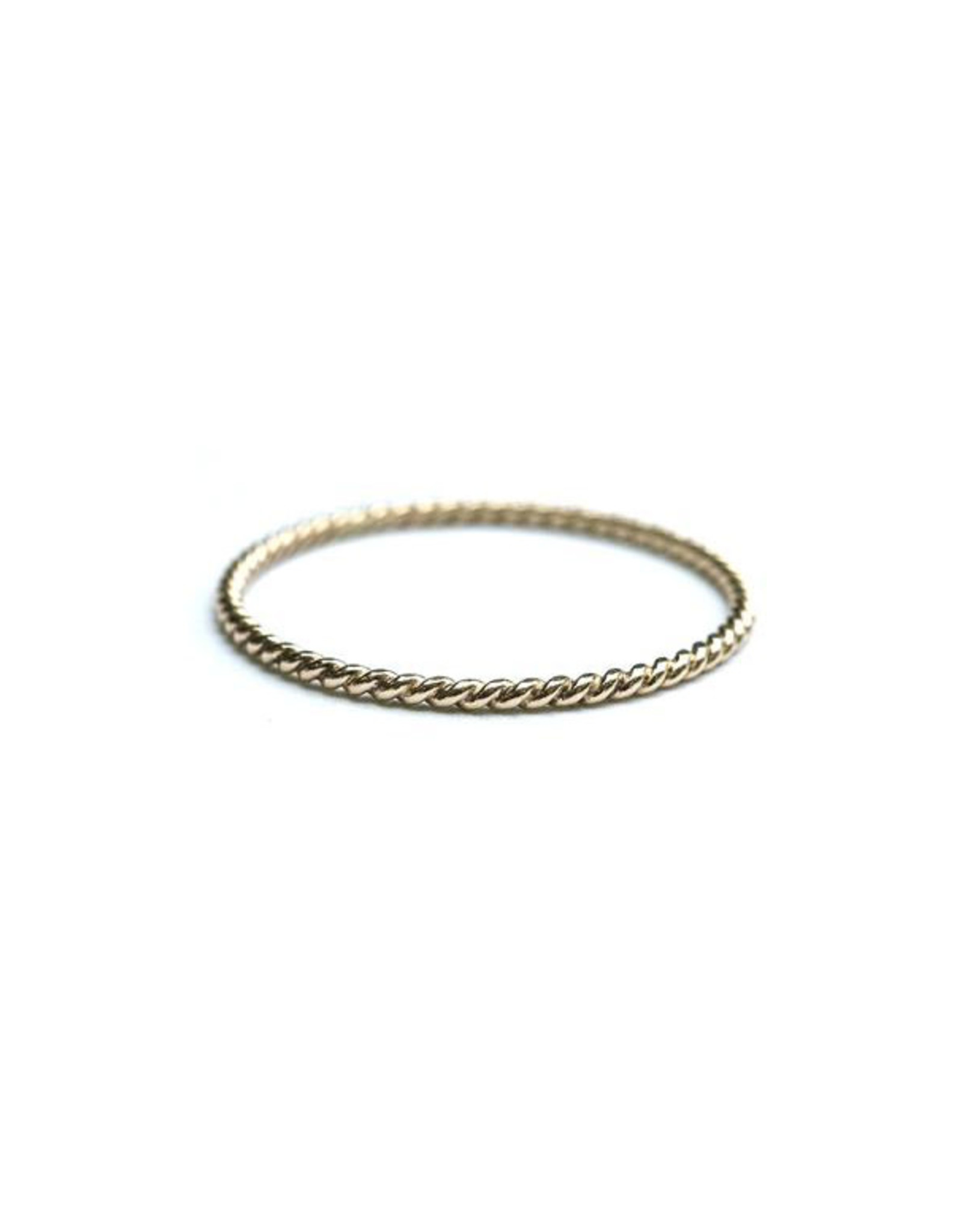 Hart + Stone Twisted Stacking Ring - 14K Gold