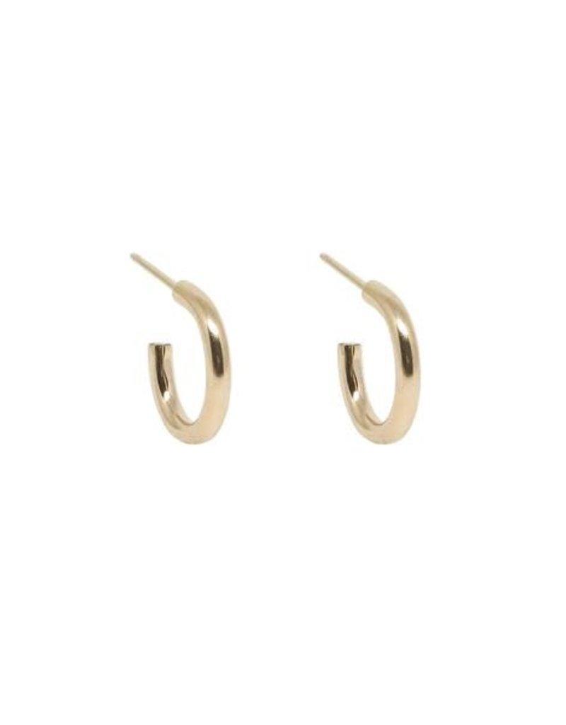 Hart + Stone Lark Hoops - Small - Gold Fill