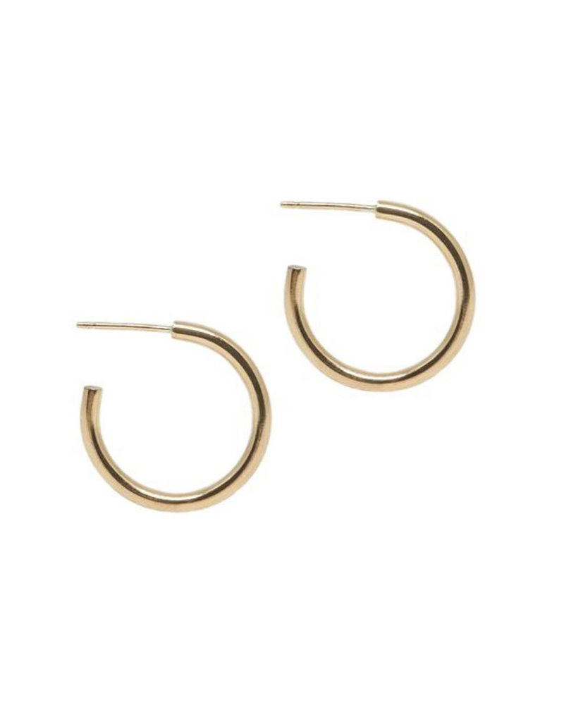 Hart + Stone Lark Hoops - Medium - Gold Fill