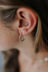 Hart + Stone Lark Hoops - Large - Gold Fill