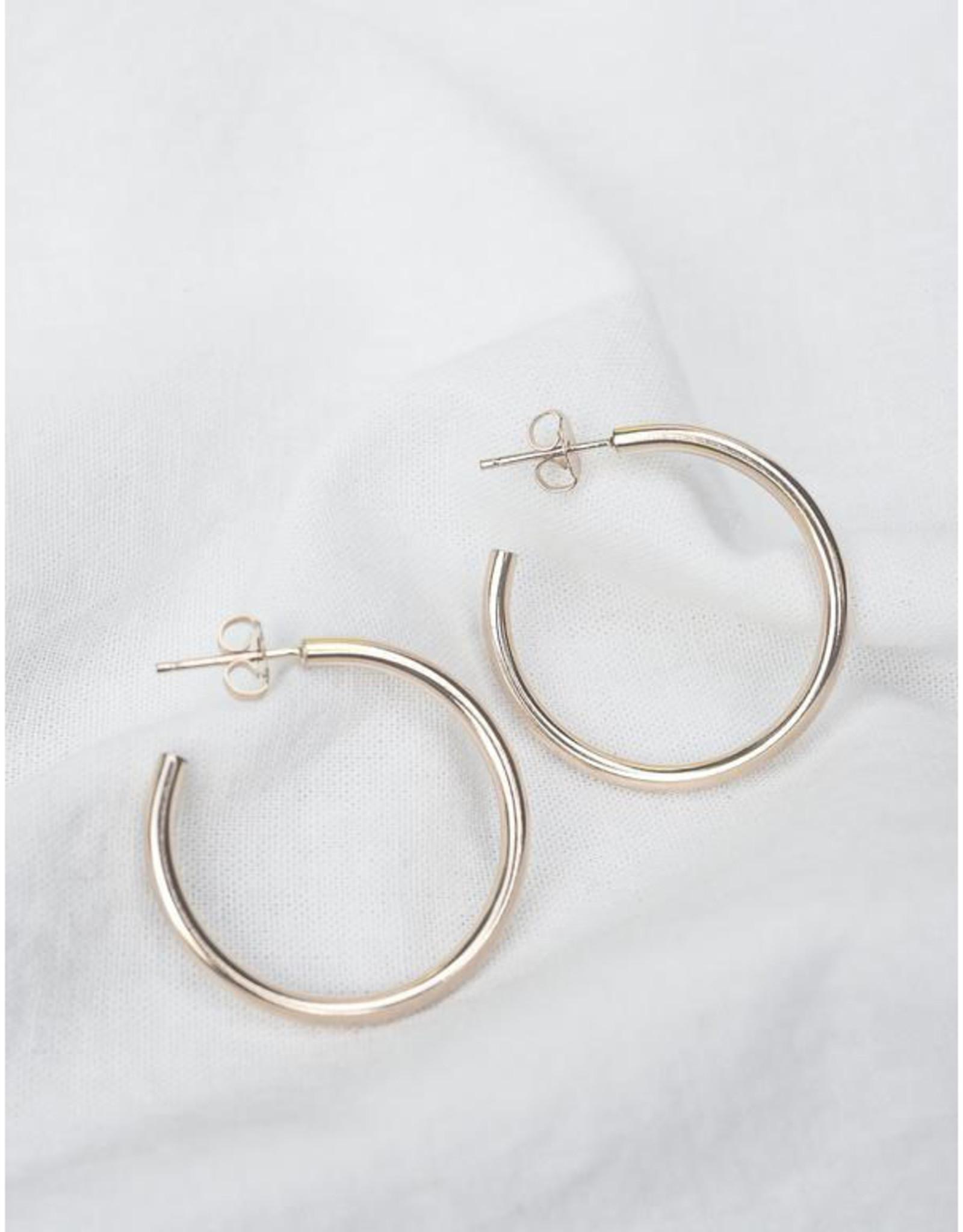Hart + Stone Lark Hoops - Large - Sterling Silver