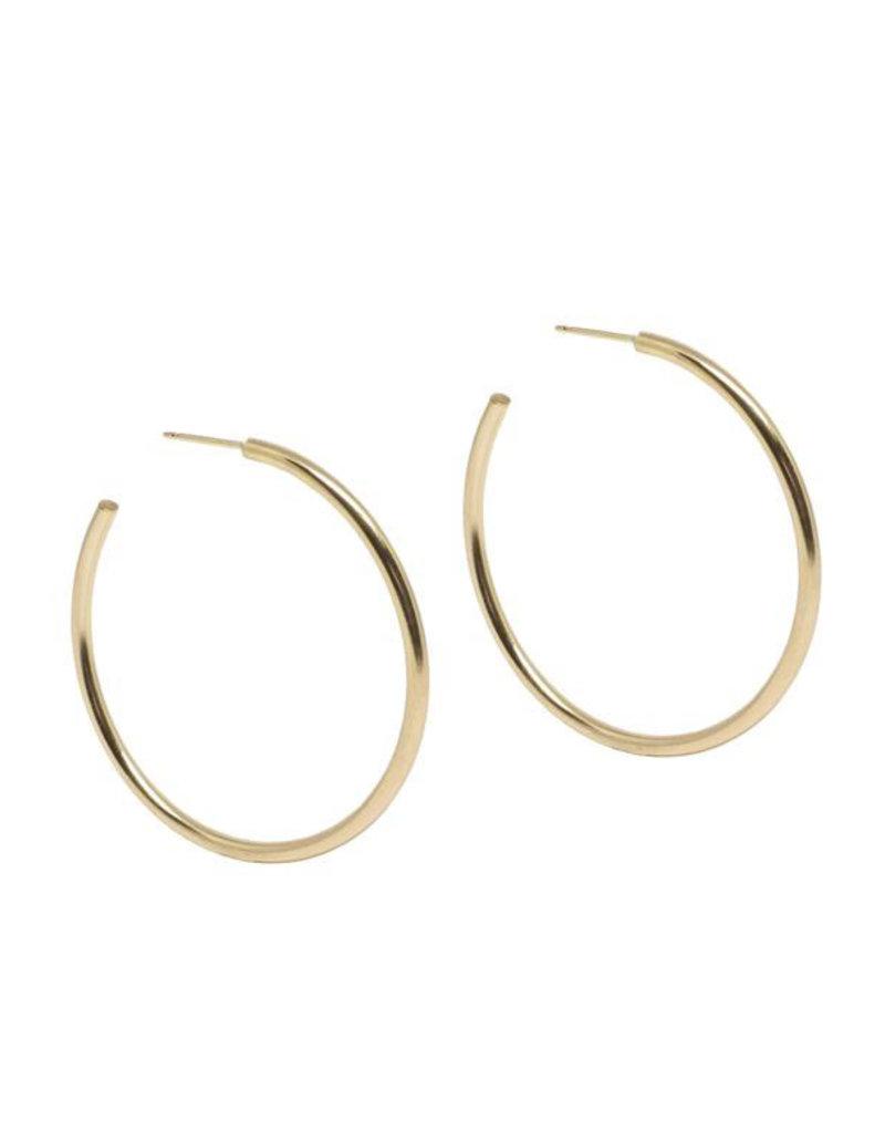 Hart + Stone Lark Hoops - XLarge - Gold Fill