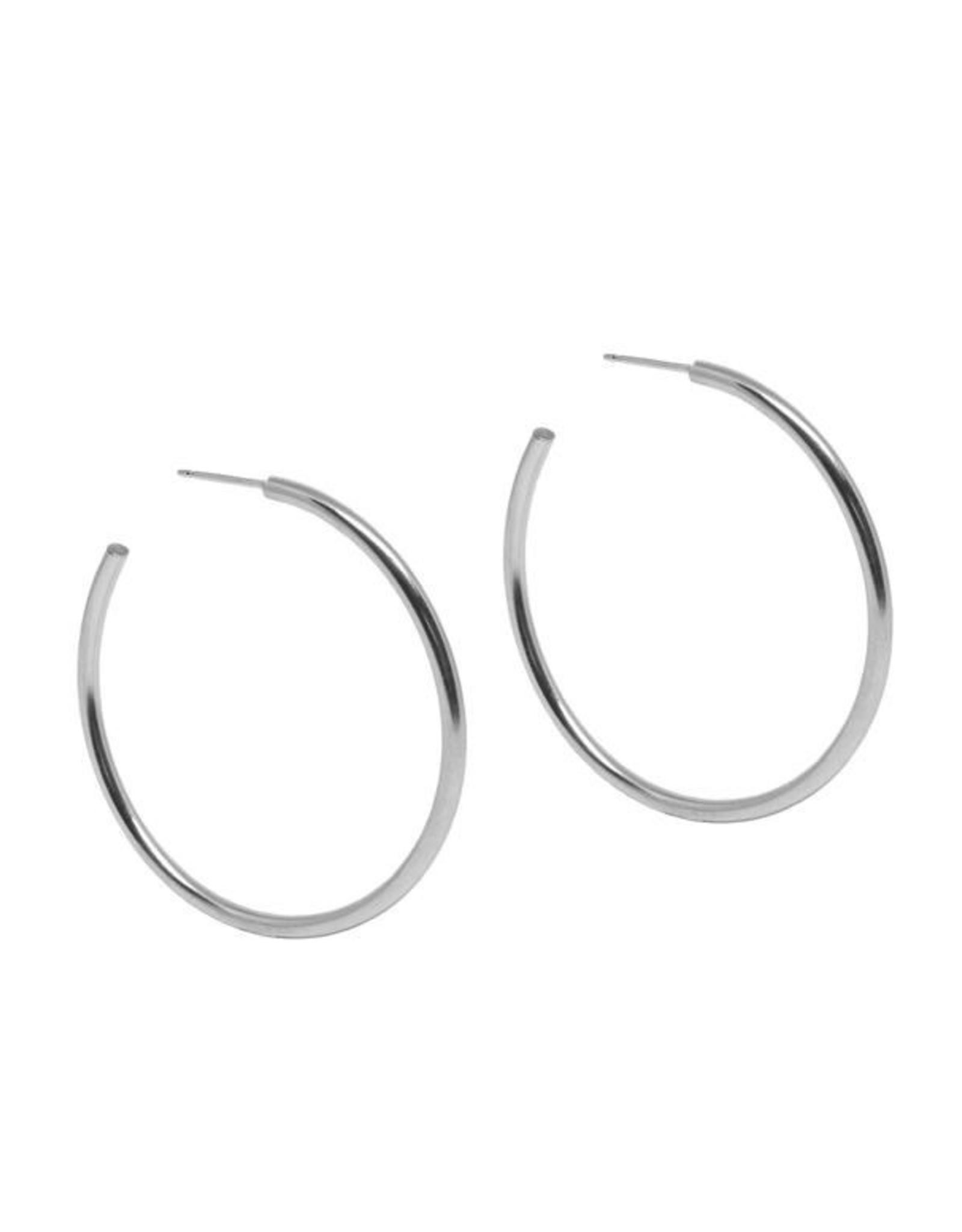 Hart + Stone Lark Hoops - XLarge - Sterling Silver