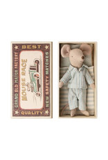 Maileg Big Brother Mouse in Box - Blue Striped Pyjamas