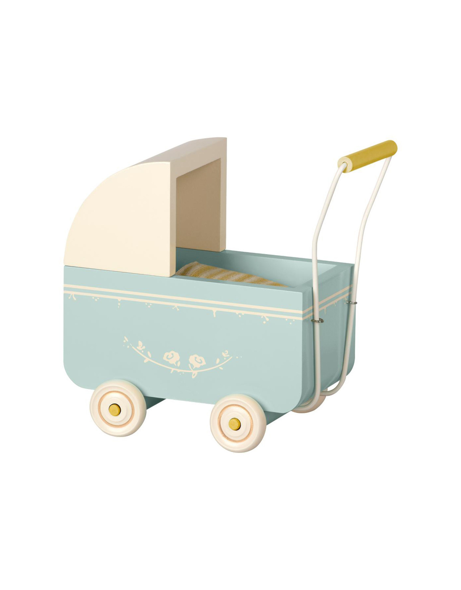 Maileg Baby Blue Pram - Micro