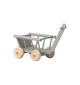 Maileg Micro Wagon - Mint + Grey