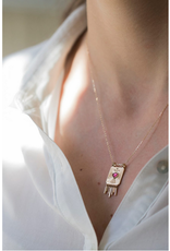 Celine Daoust Heart Plate Pendant Necklace - Pink Tourmaline