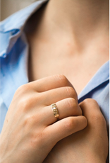 Celine Daoust Totem Ring - Diamond Baguettes + Triangles