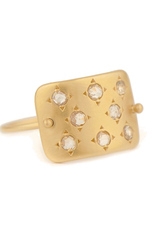 Celine Daoust Constellation Plate Ring - Diamond