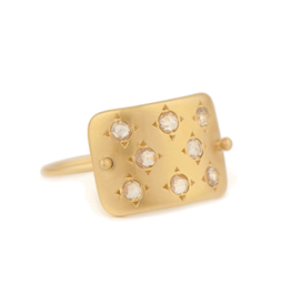 Celine Daoust Constellation Plate Ring - Diamond