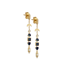 Celine Daoust Totem Earrings - Blue Green Tourmalines + Diamonds