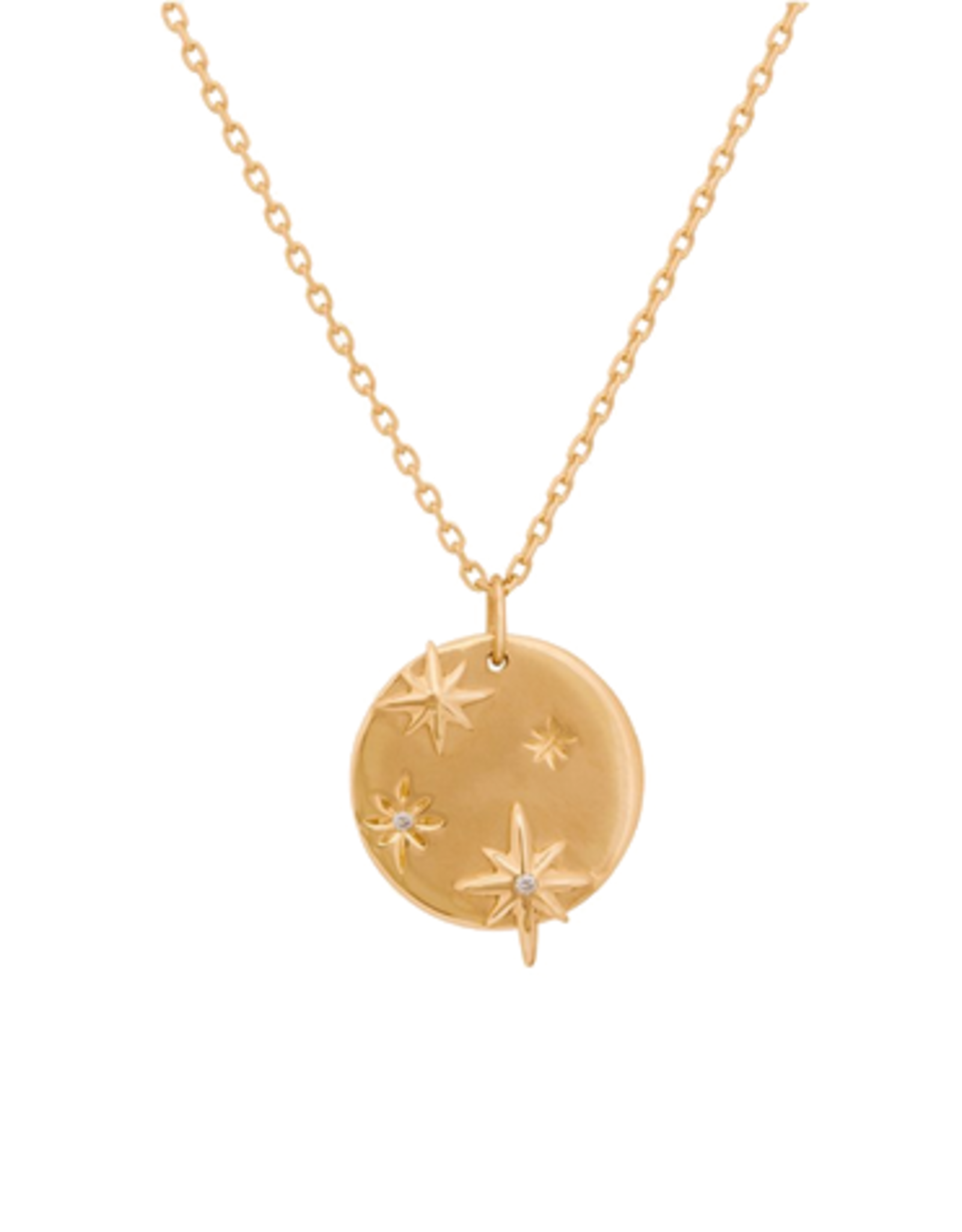 Celine Daoust Stars Medallion Necklace - Diamonds