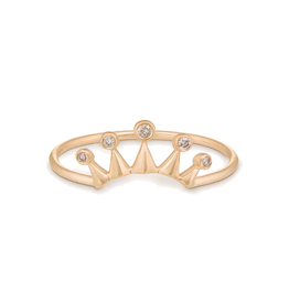 Celine Daoust Five Diamond Crown Ring