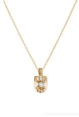 Celine Daoust Little Totem Necklace - Ice Blue Tourmaline + Diamonds