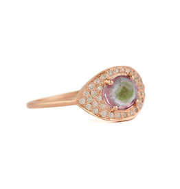 Celine Daoust Full Eye Ring - Watermelon Tourmaline  + Diamonds