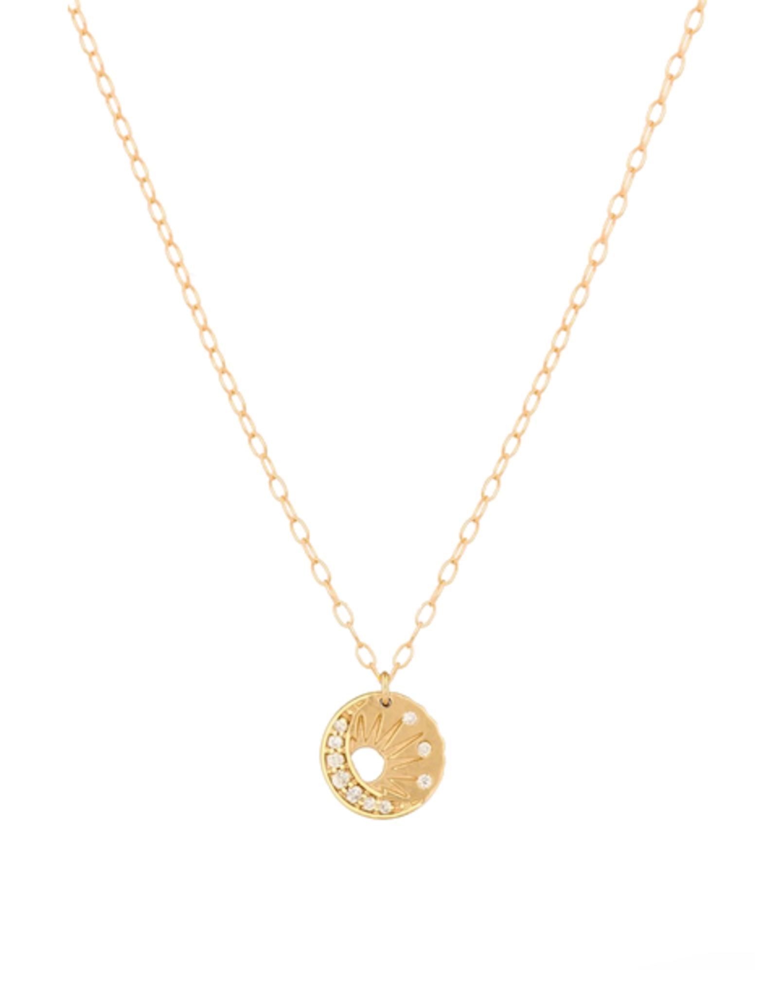 Celine Daoust Little Sun + Moon Medallion Necklace