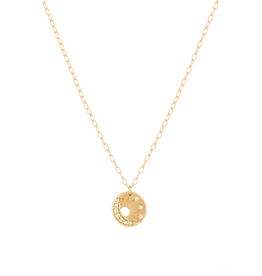 Celine Daoust Little Sun + Moon Medallion Necklace