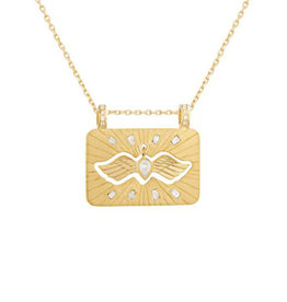 Celine Daoust Dangling Bird Necklace - Diamond