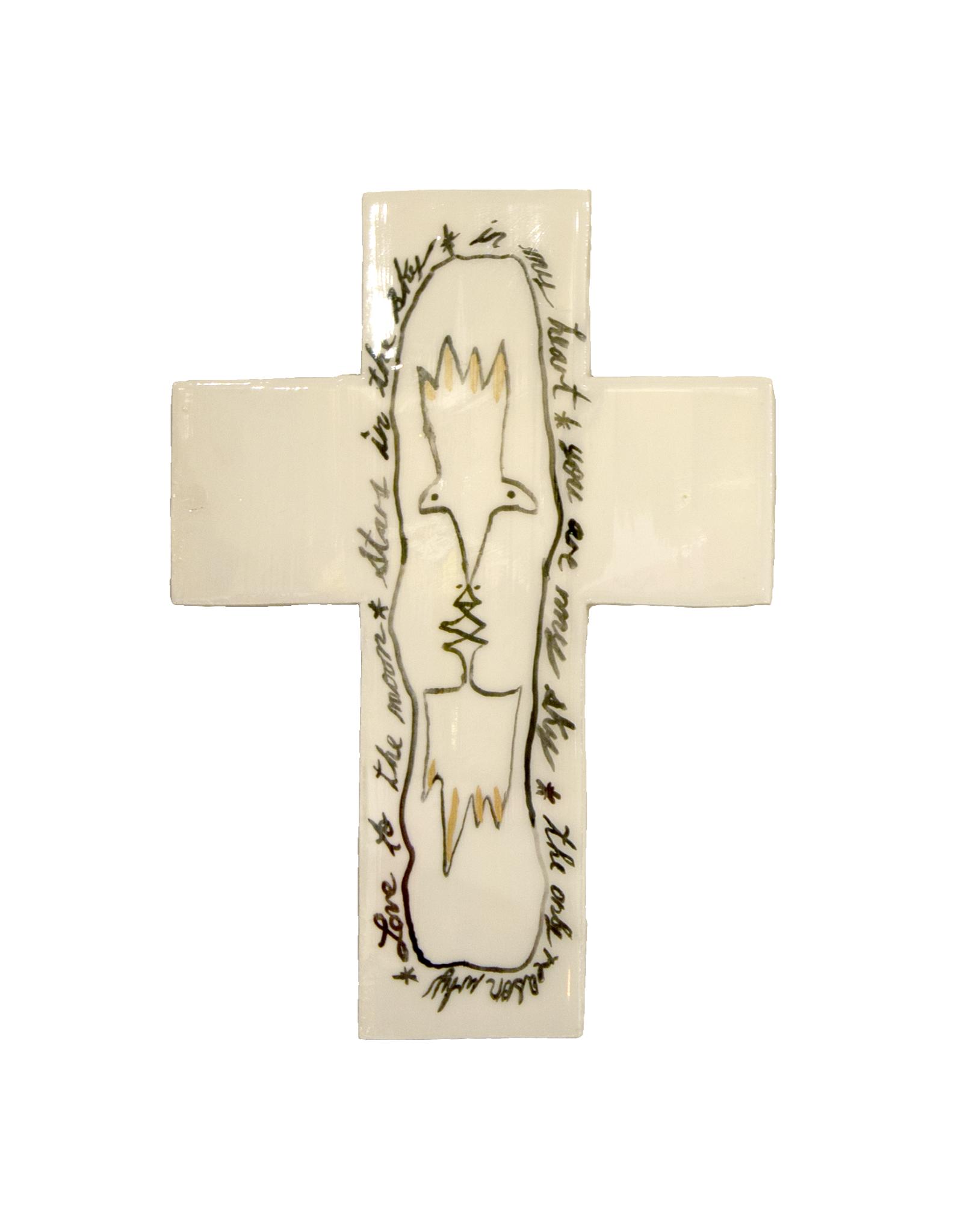 Entouquet Black + Gold Line Drawing Large Cross