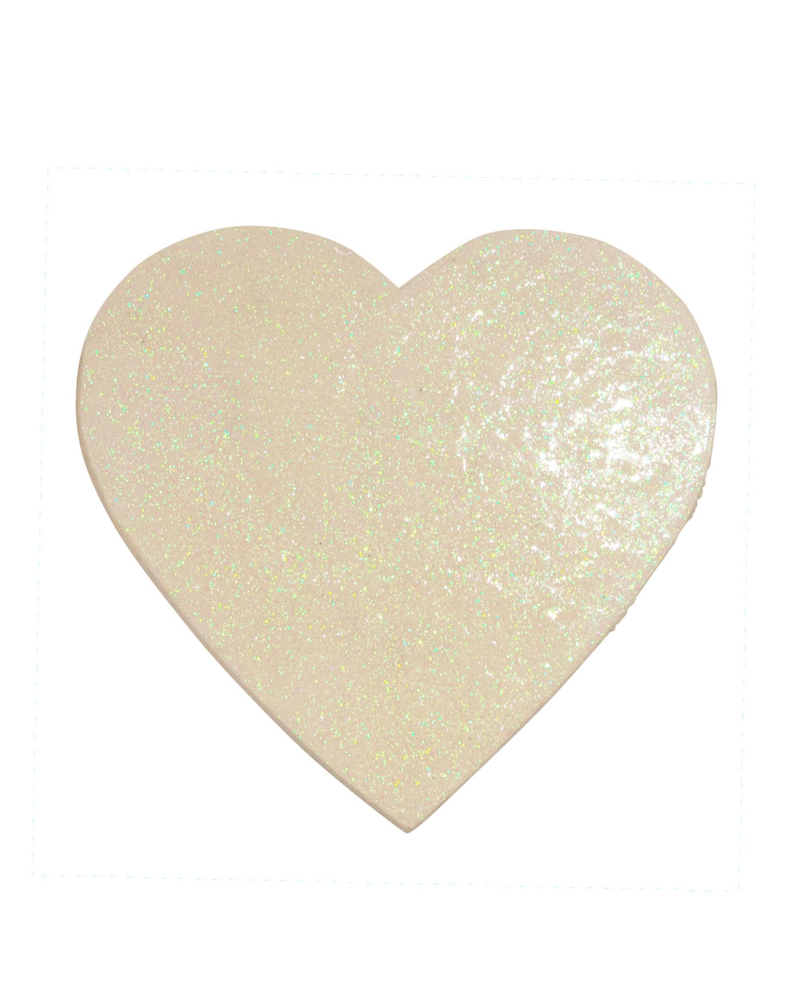 Entouquet Pearlescent Glitter Large Heart Tile