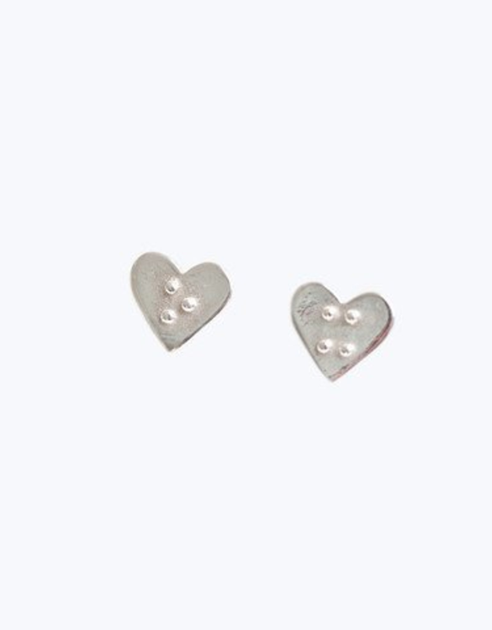 "Covet + Keep Jewelry Nell ""X O"" Heart Stud Earrings"