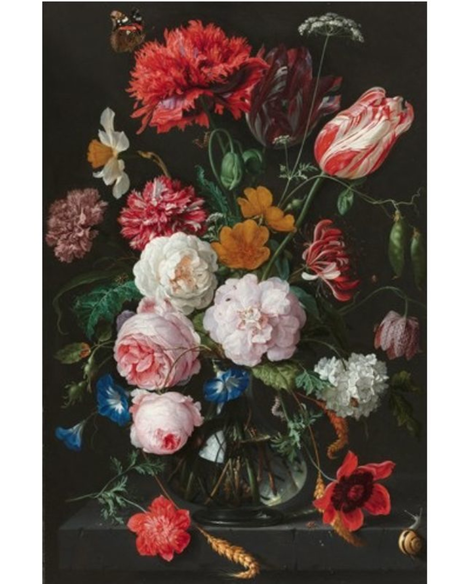 IXXI Still Life with Flowers in a Glass Vase - 120cm x 180cm