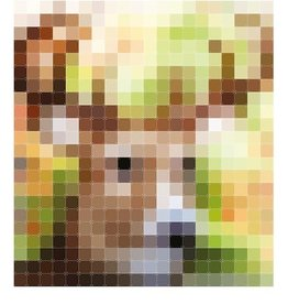 IXXI OPEN BOX - Pixelated Patchwork Deer - 50% OFF