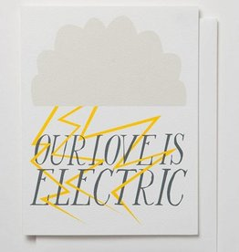Banquet Atelier & Workshop Our Love is Electric - Note Card