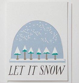 """Banquet Atelier & Workshop """"Let it Snow"""" Snowglobe - Note Card"""