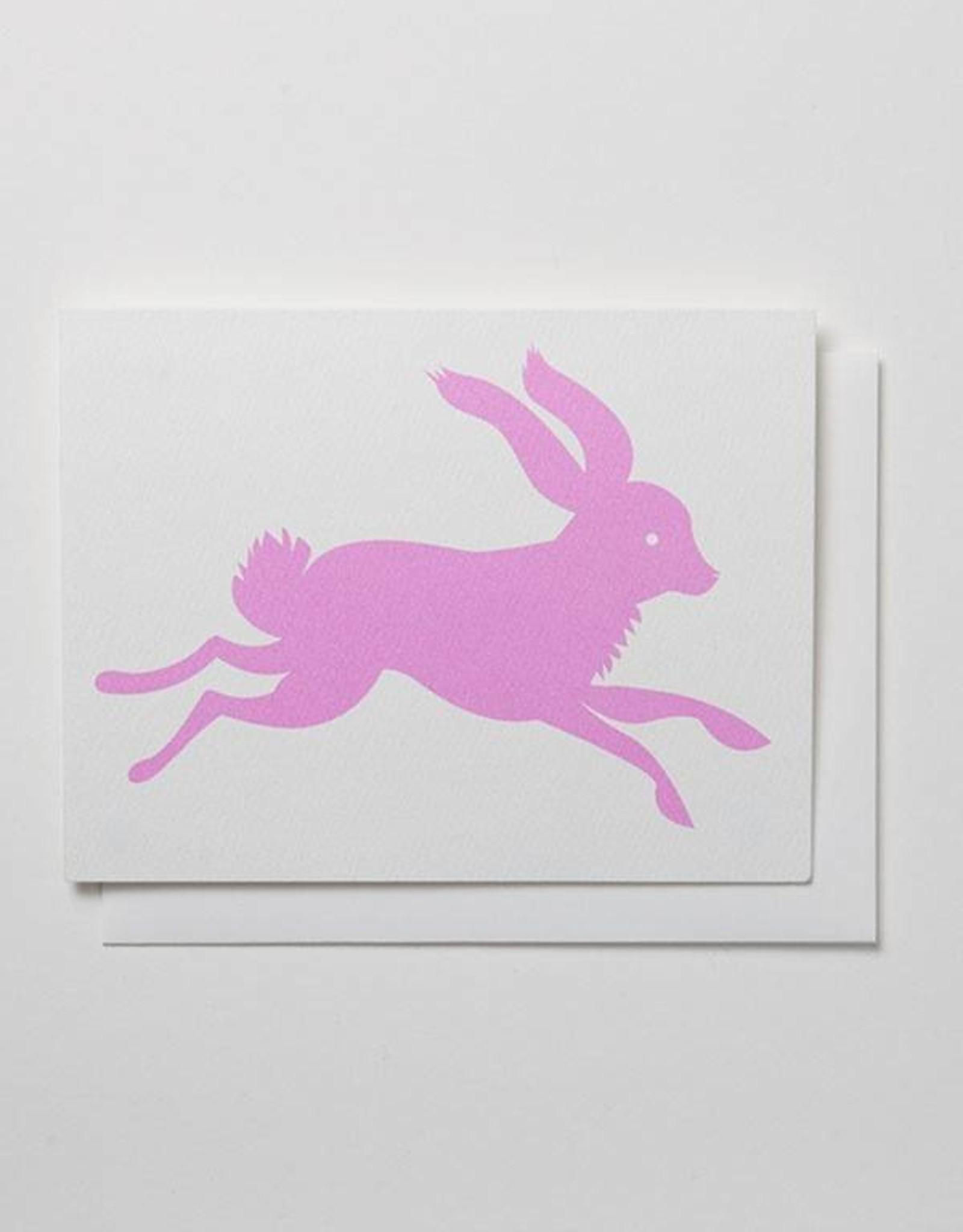 Banquet Atelier & Workshop Pink Rabbit - Note Card